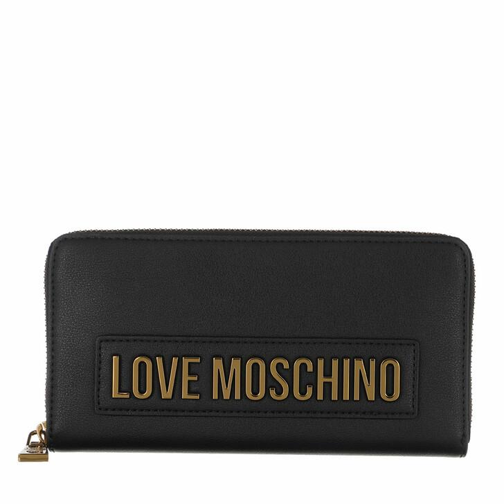 Geldbörse, Love Moschino, Wallet Smooth Nero