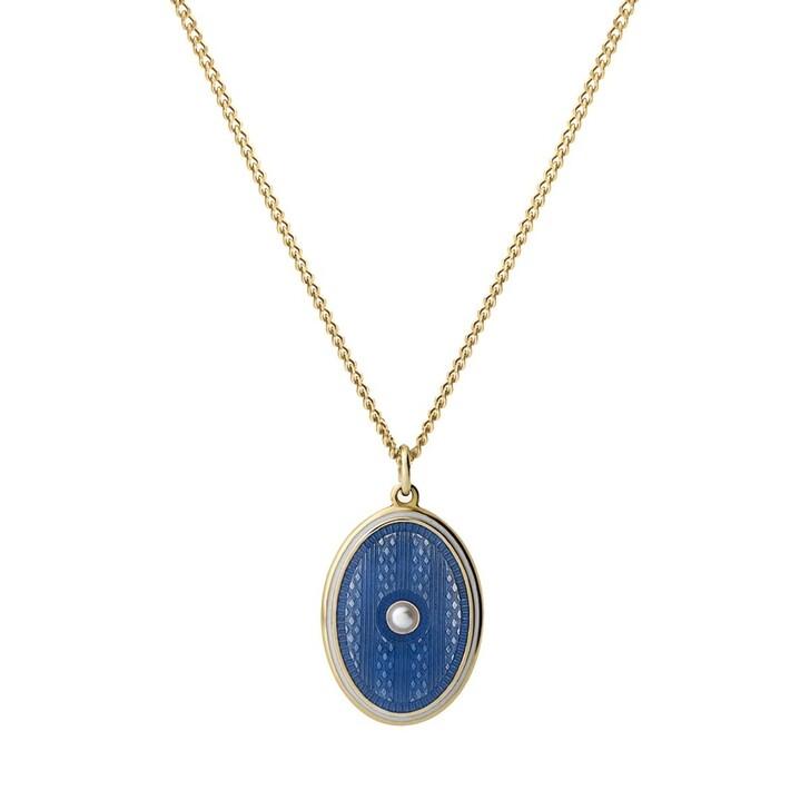 Kette, Miansai, Argyle Pearl Pendant Necklace Light Blue