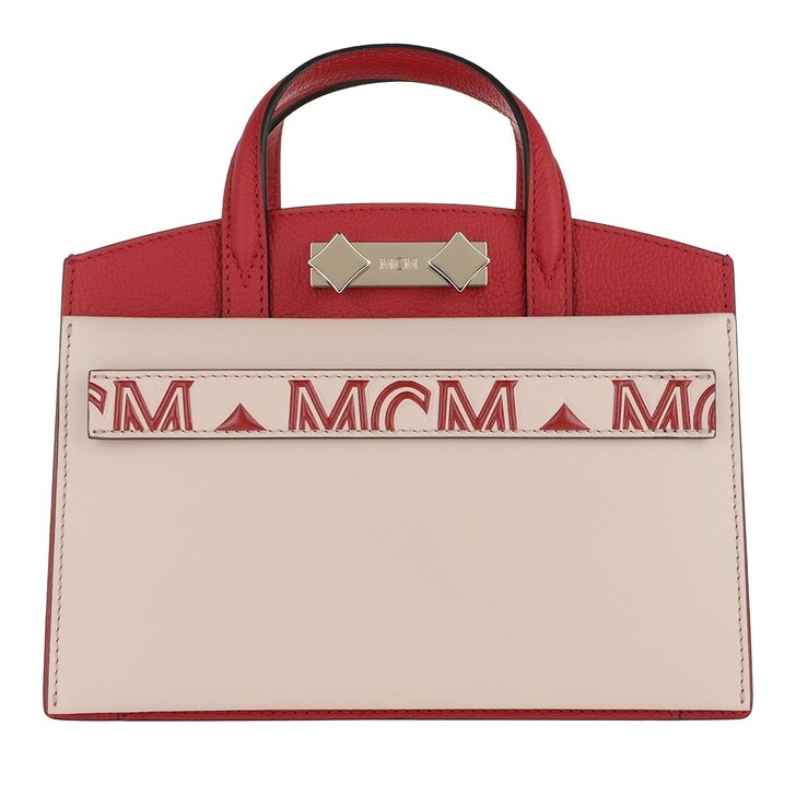 Handtasche, MCM, Mini Tote Bag Ruby Red/Rose Dust
