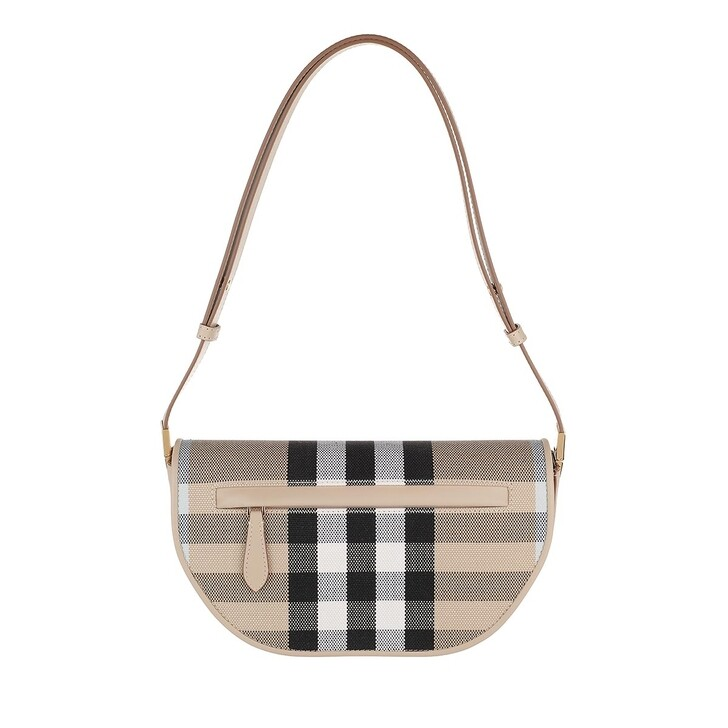 Handtasche, Burberry, Checked Crossbody Bag Dusty Sand/Soft Fawn