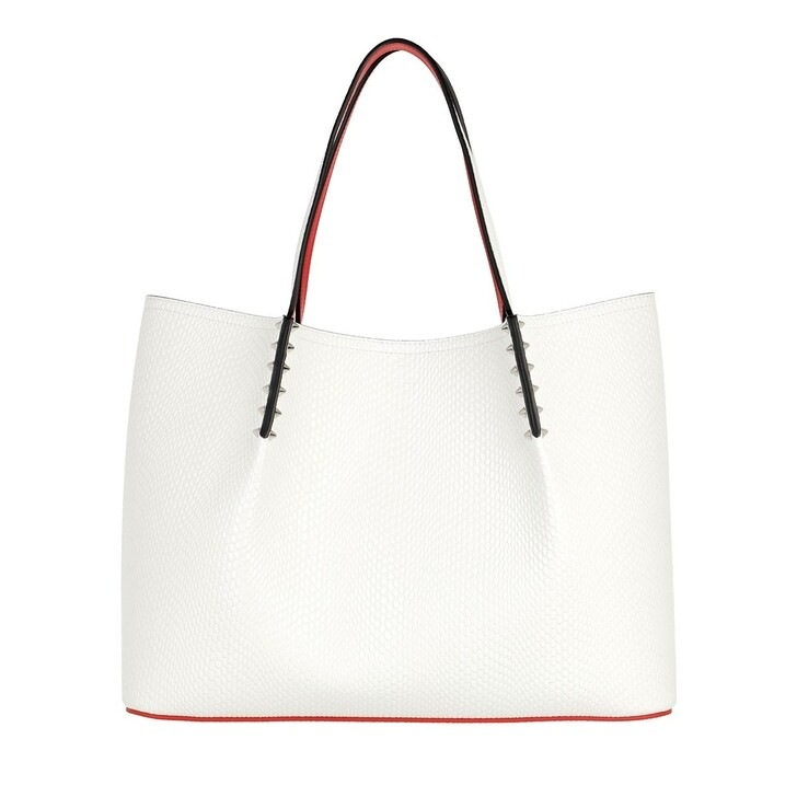 Handtasche, Christian Louboutin, Paloma Top Handle Small White