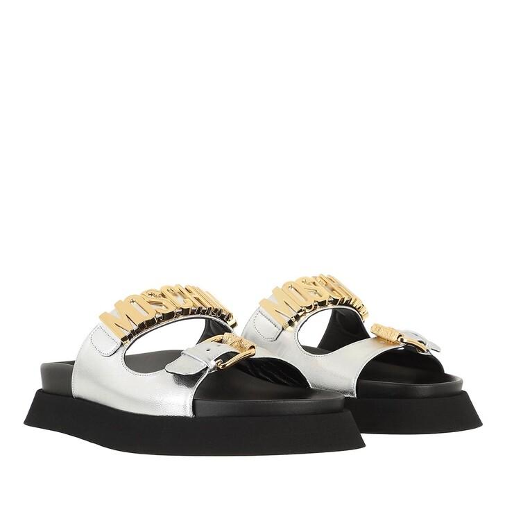 Schuh, Moschino, Shoe Capralam Argento