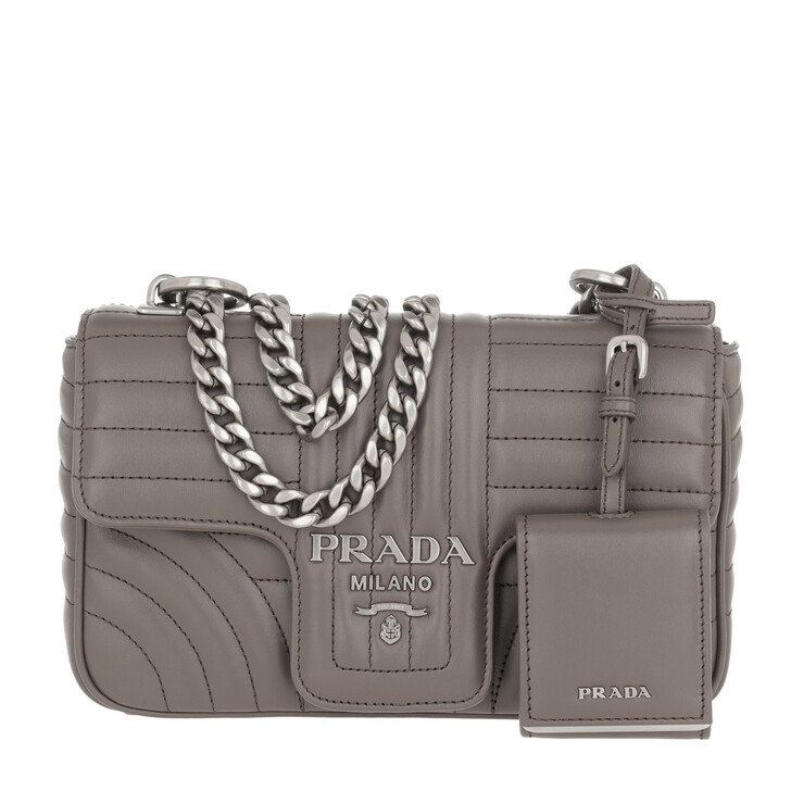Handtasche, Prada, Diagramme Crossbody Bag Leather Bambu