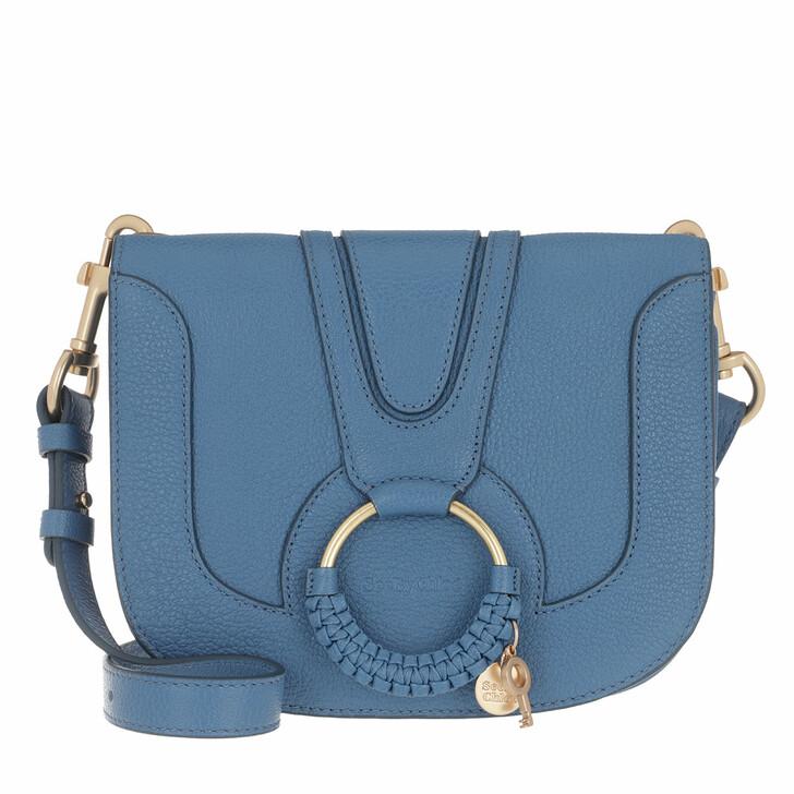 Handtasche, See By Chloé, Hana Medium Crossbody Bag Leather Moonlight Blue