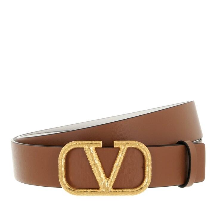 belts, Valentino Garavani, Buckle Belt Light Brown