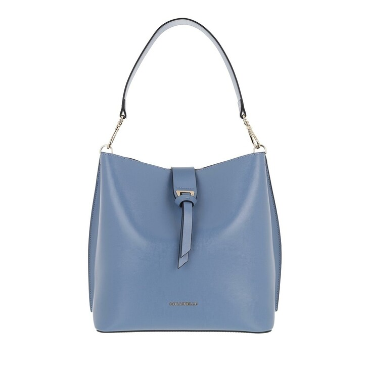 Handtasche, Coccinelle, Alba Textured Bucket Bag Pacific Blue