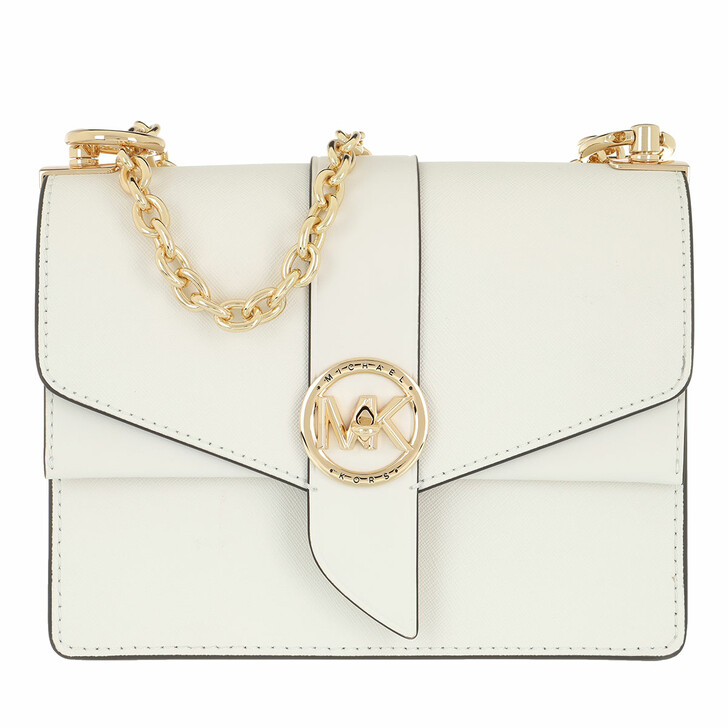Handtasche, MICHAEL Michael Kors, Greenwich Crossbody Handbag Leather Optic White