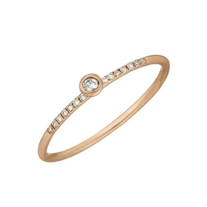 Ring, Leaf, Ring Petite White Diamond Roségold