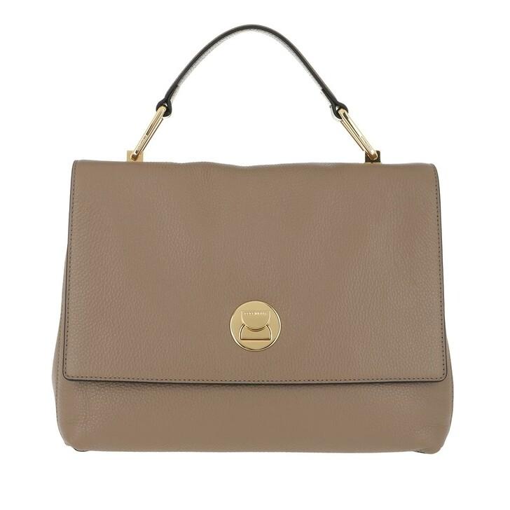 Handtasche, Coccinelle, Liya Crossbody Leather Taupe Noir