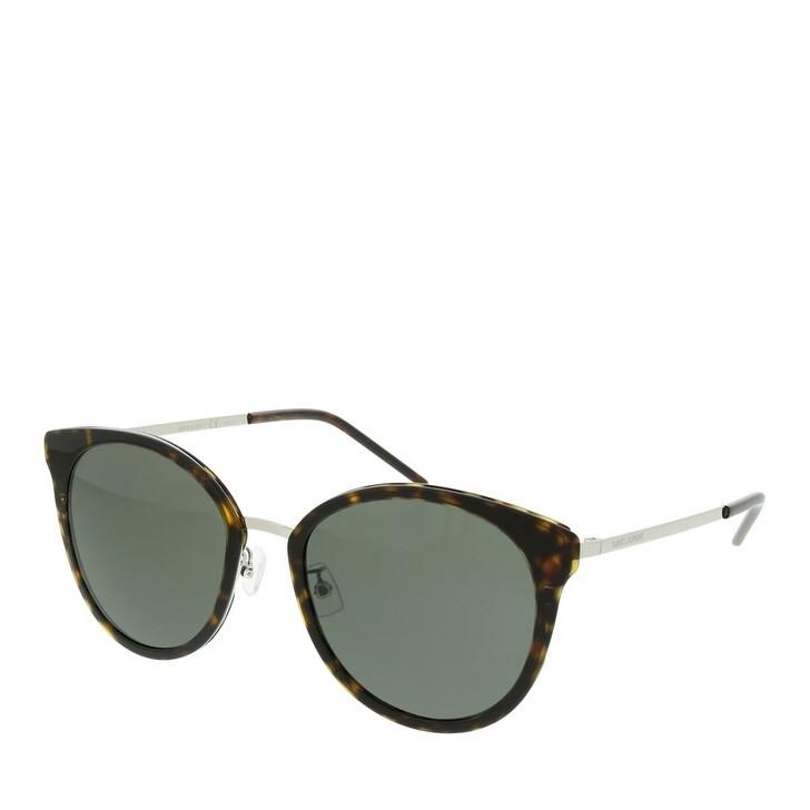 Sonnenbrille, Saint Laurent, SL 446/F SLIM-002 55 Sunglasses Woman Silver