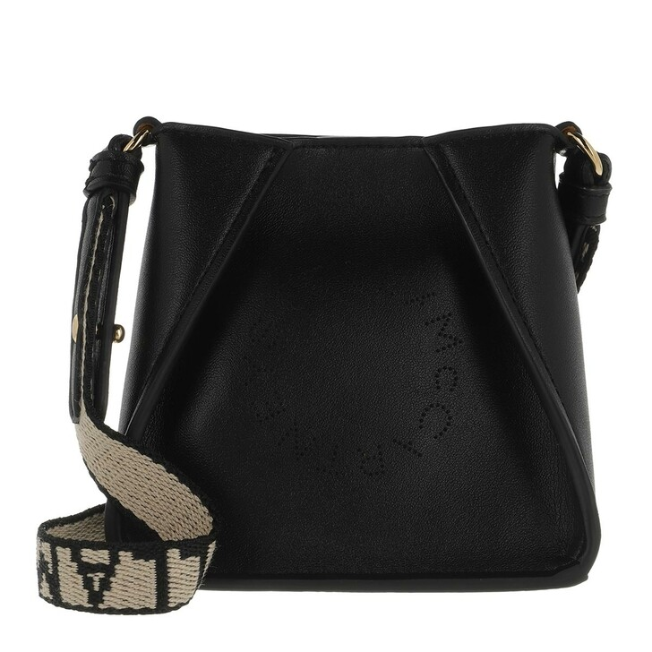 bags, Stella McCartney, Micro Tote Bag Eco Soft Alt Nappa Logo Black