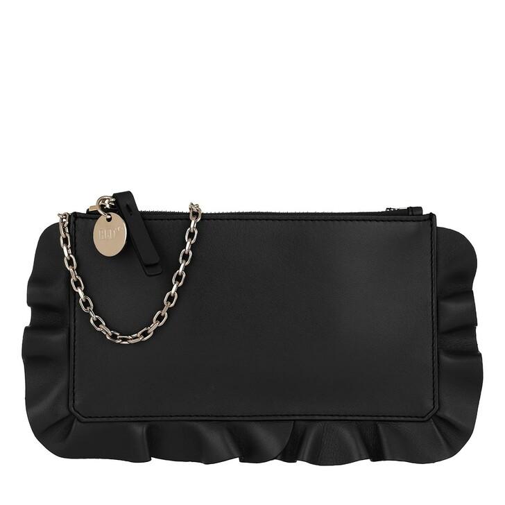 Handtasche, Red Valentino, Pochette Black