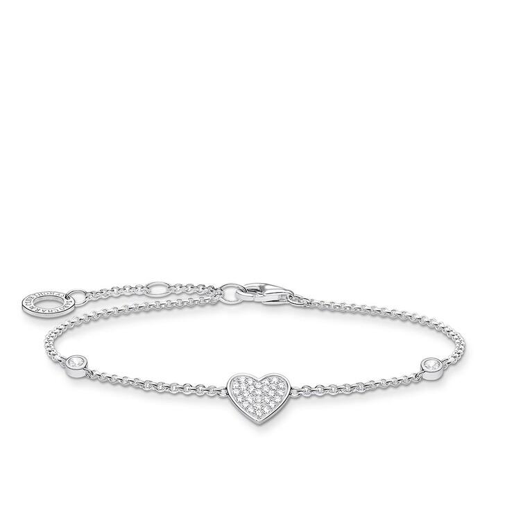 Armreif, Thomas Sabo, Bracelet Heart Pearl White