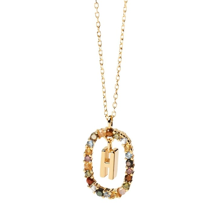 Kette, PDPAOLA, Necklace Letter H Yellow Gold
