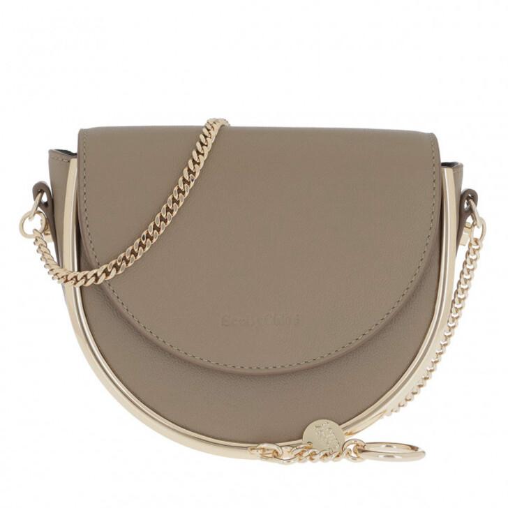 bags, See By Chloé, Mara Crossbody Bag Leather Motty Grey