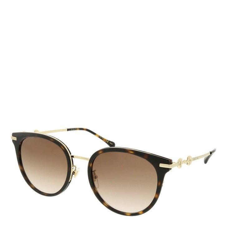 sunglasses, Gucci, GG1015SK-003 56 Sunglass Woman Injection Havana-Gold-Brown