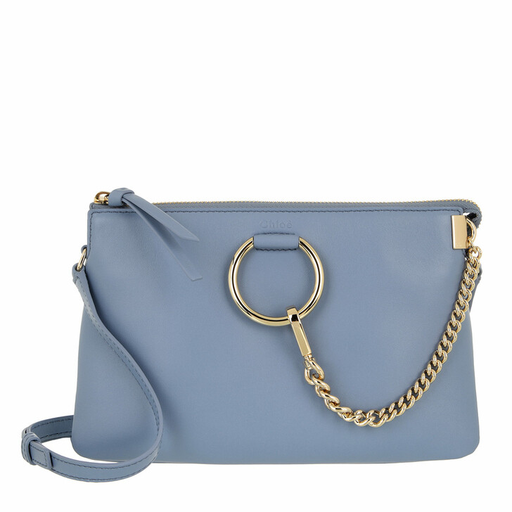 bags, Chloé, Faye Soft Zipped Shoulder Bag Gentle Blue
