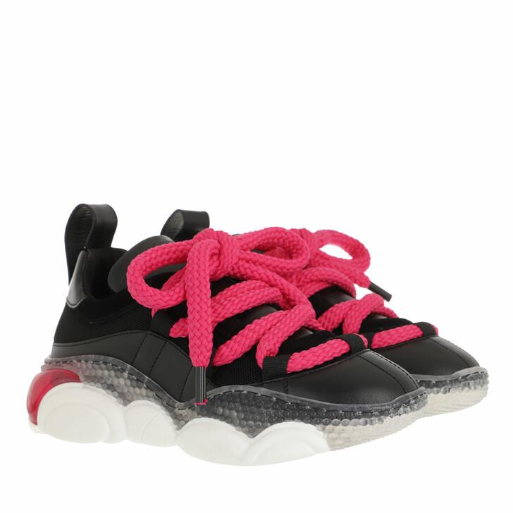 shoes, Moschino, Sneakerd Bolla30 Mix Nero+Fuxia