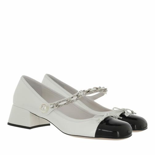 miu miu -  Pumps & High Heels - Naplak Pumps Leather - in weiß - für Damen