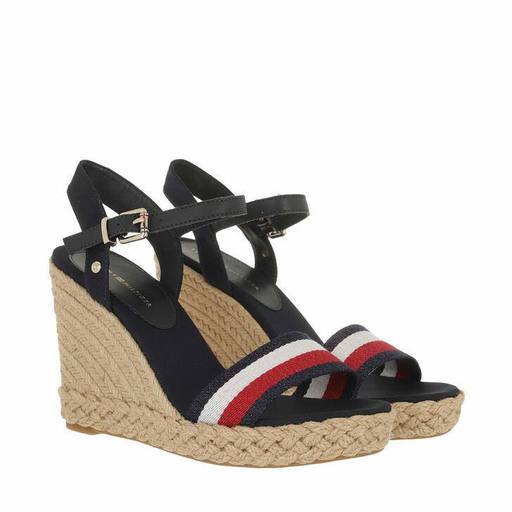Schuh, Tommy Hilfiger, Shimmery High Wedge Sandals Desert Sky