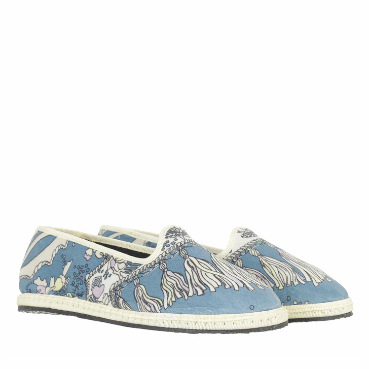 shoes, Emilio Pucci, Rugiada Ballerina Shoes Avio
