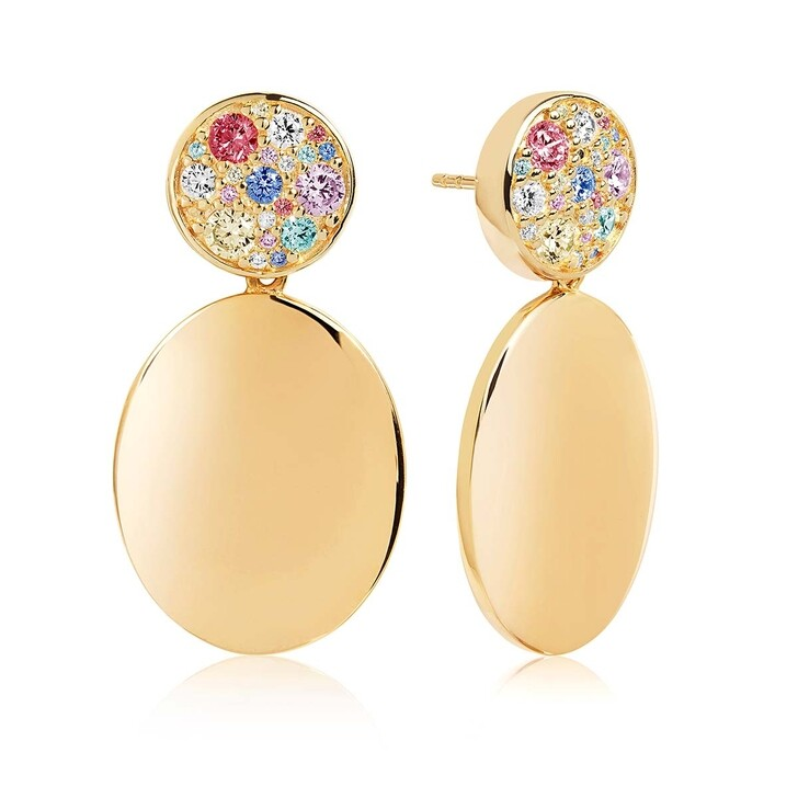 Ohrring, Sif Jakobs Jewellery, Novara Uno Grande Earrings Multicoloured Zirconia 925 Sterling Silver