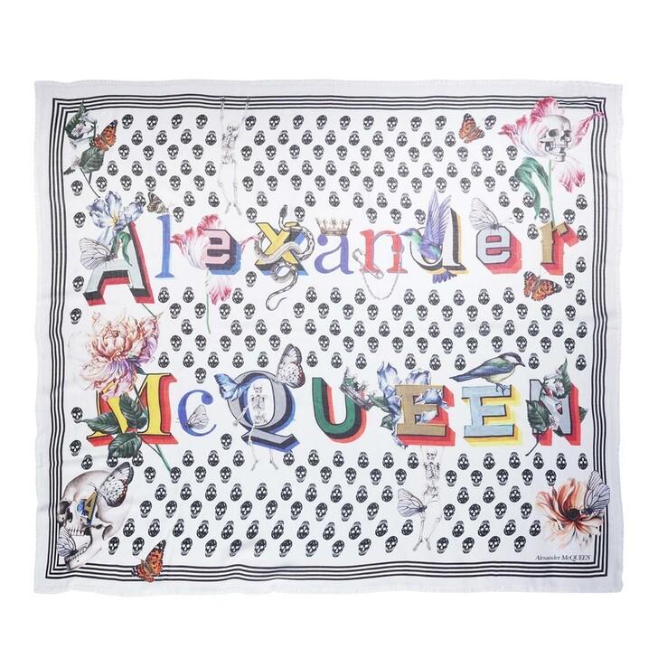 scarves, Alexander McQueen, Biker Shawl Ivory/Black