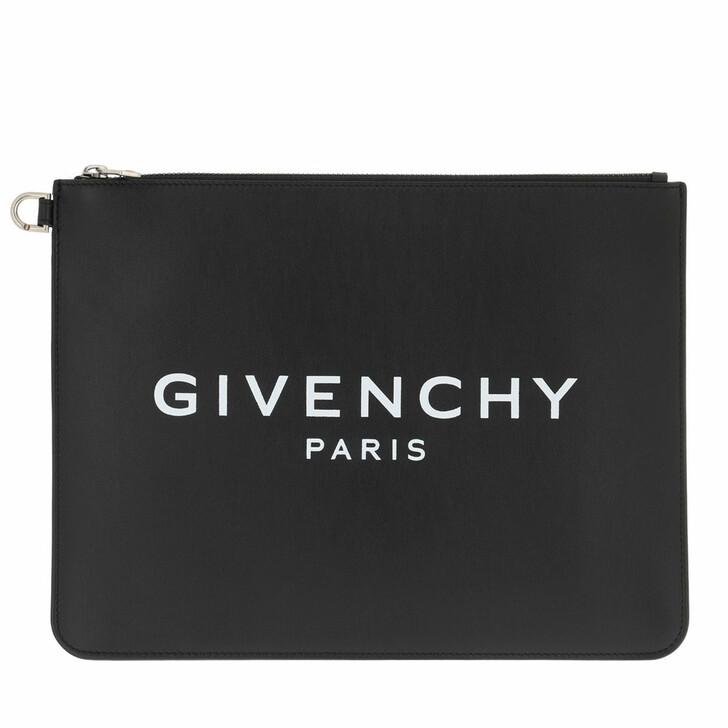Handtasche, Givenchy, Paris Large Zipped Pochette Leather Black