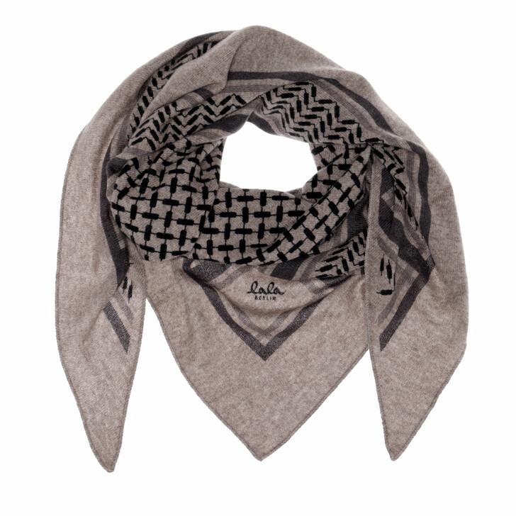 scarves, Lala Berlin, Triangle Trinity Classic M Stradivari Dark Brown Melange