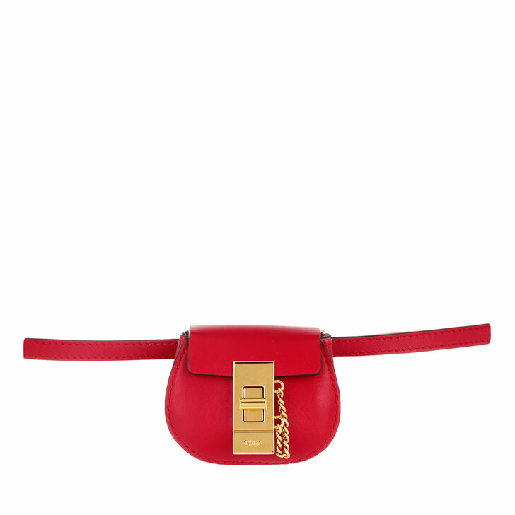 Handtasche, Chloé, Drew Mini Bracelet Bag Calfskin Juicy Red