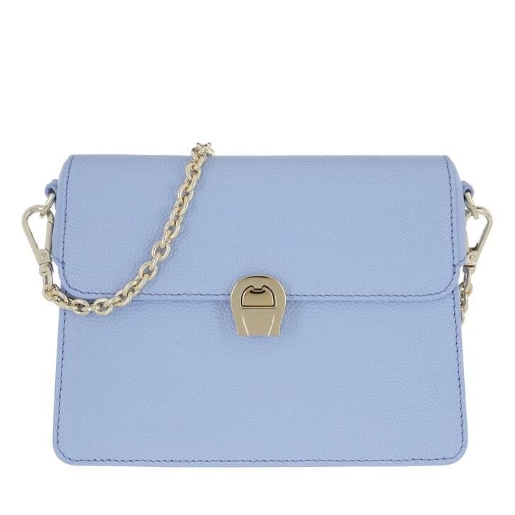 Handtasche, AIGNER, Genoveva Handle Bag Bellflower Blue
