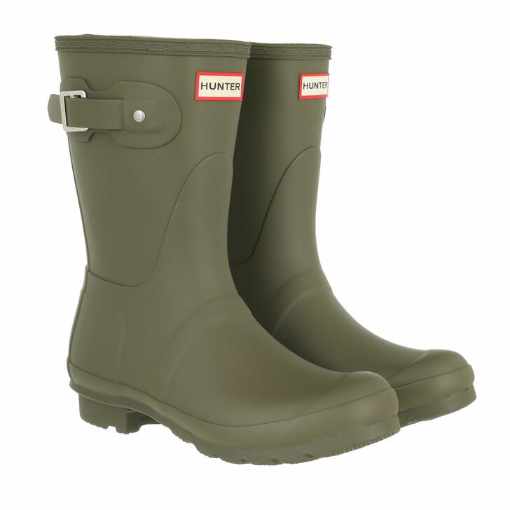shoes, Hunter, womens original short olive green