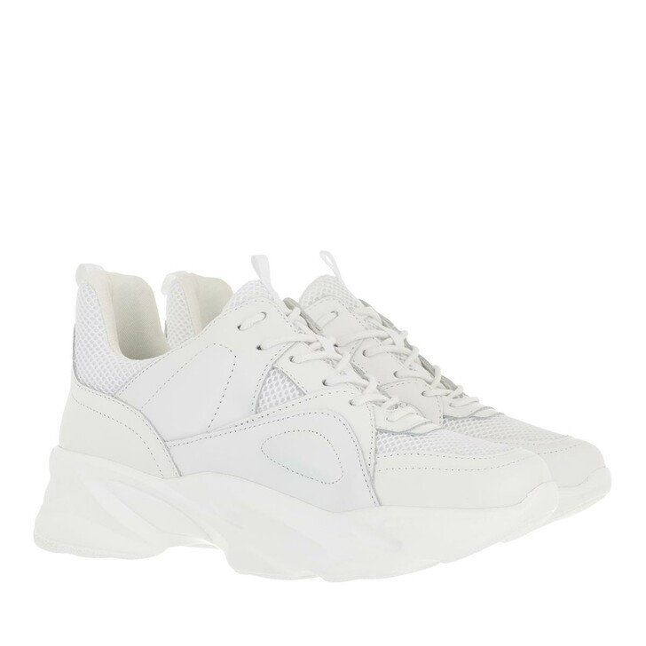 shoes, Steve Madden, Movement Sneaker Leather/Fabric White
