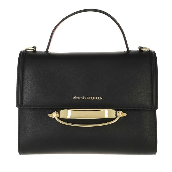 bags, Alexander McQueen, The Story Crossbody Bag Black Red