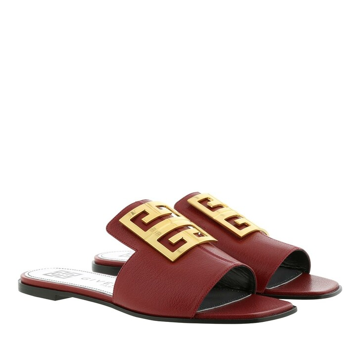 Schuh, Givenchy, 4G Sandals Grained Leather Red