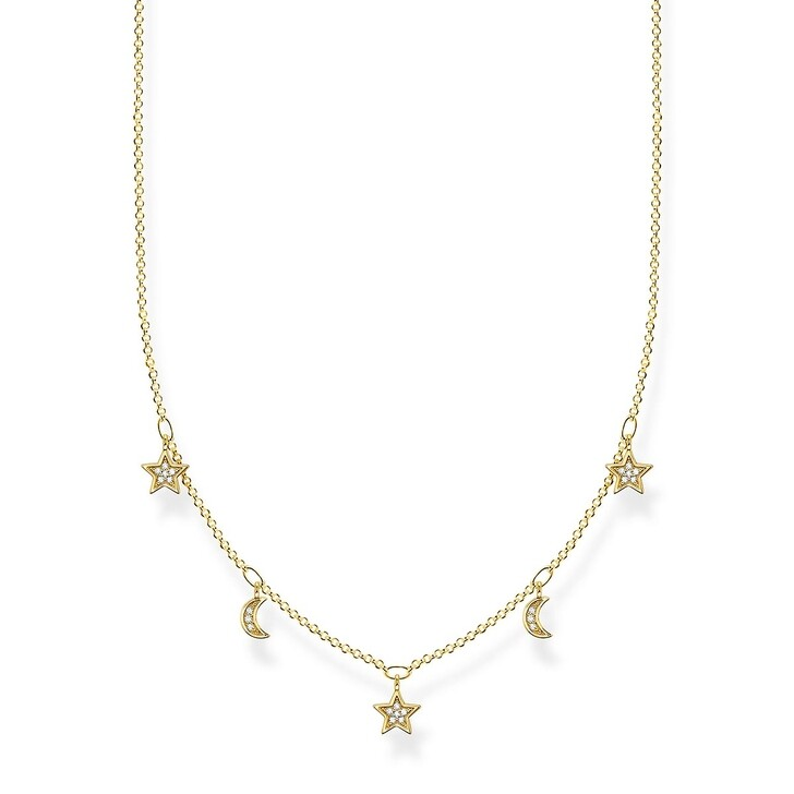 Kette, Thomas Sabo, Necklace Moon & Stars Pearl White