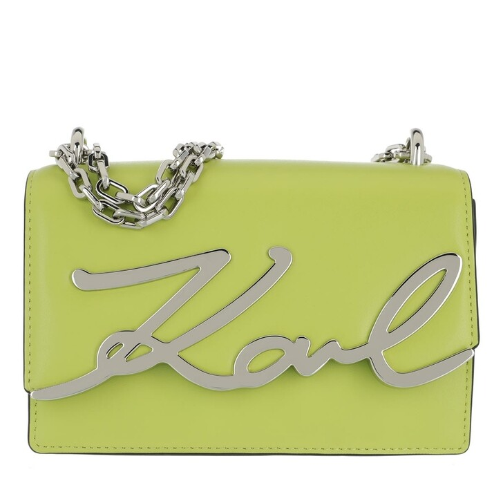 Handtasche, Karl Lagerfeld, Signature all Shoulderbag Anise
