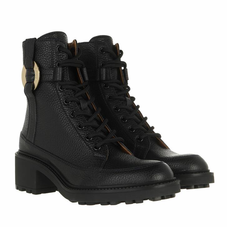 shoes, Chloé, Darryl Lace Up Boots Black