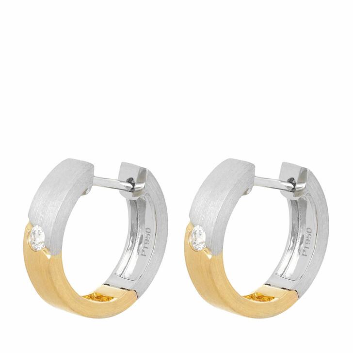 earrings, VOLARE, Earring Hoops 2 Brill ca. 0,10 Bicolor