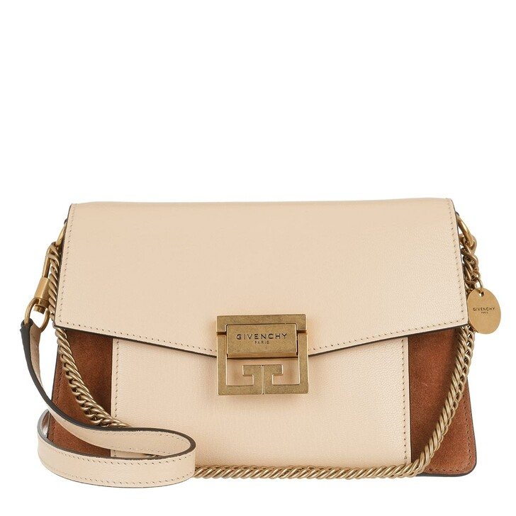 bags, Givenchy, Small GV3 Bag Leather And Suede Beige Pink