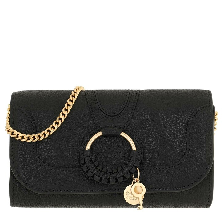 wallets, See By Chloé, Hana Wallet On Chain Black