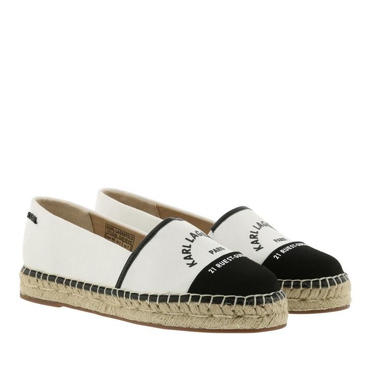 Schuh, Karl Lagerfeld, Kamini Maison Slip On Canvas White Black