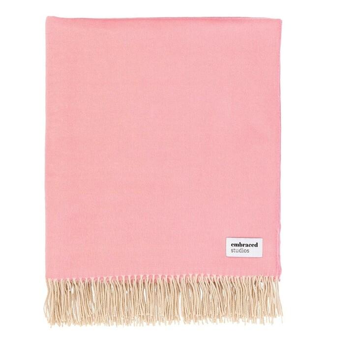 Heimtextilien, Embraced Studios, Reversible Sofa Cotton Blanket Pink