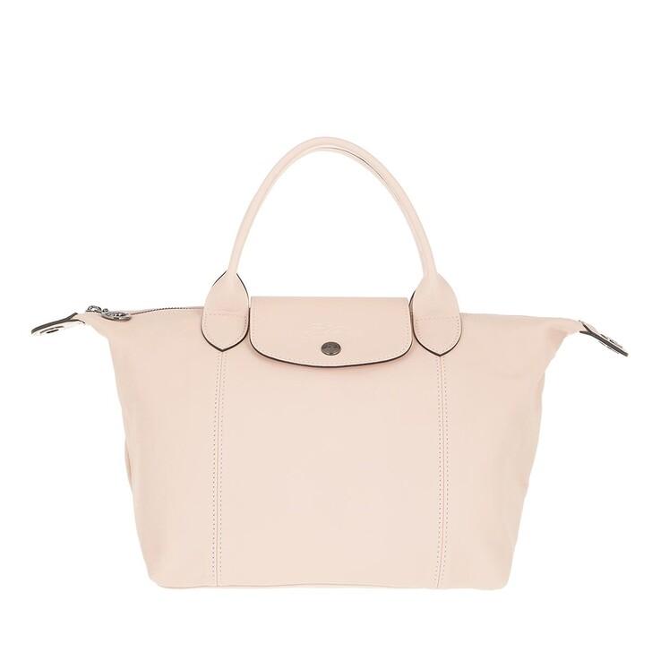 bags, Longchamp, Le Pliage Cuir Handbag Light Pink