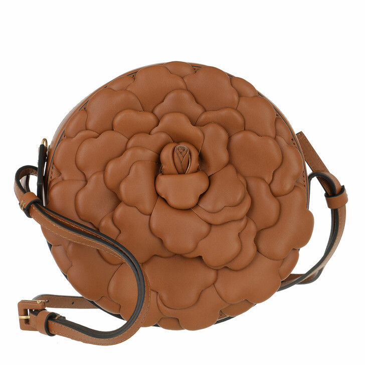 bags, Valentino Garavani, Rose Crossbody Bag Leather Brown