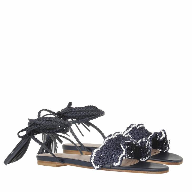 shoes, Red Valentino, Sandal Blu White/Ocean