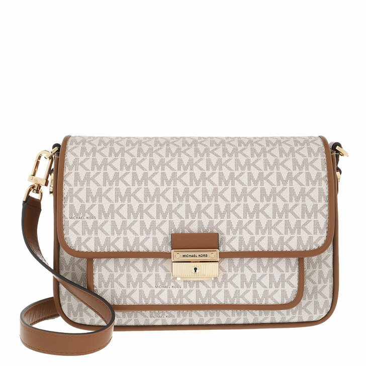 Handtasche, MICHAEL Michael Kors, Bradshaw Messenger Handbag Vanilla/Acorn