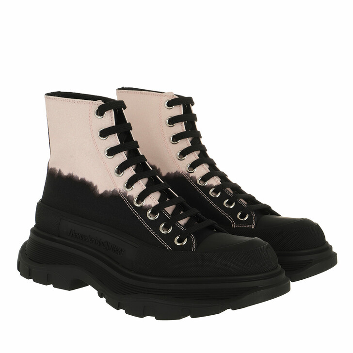shoes, Alexander McQueen, Tread Slick Ankle Boots Black/Rose/Silver