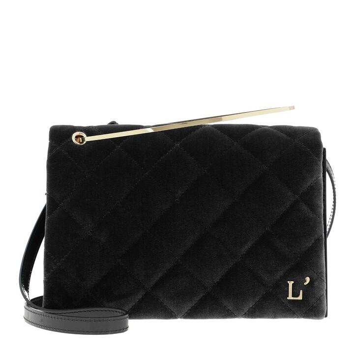 Handtasche, L´Autre Chose, Cross Body Velvet Patent Calf Black