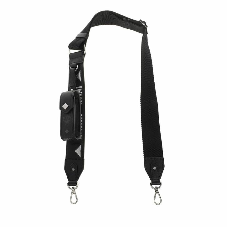 straps, MCM, Mcm Webbing Strap W/Lipstick Case Black